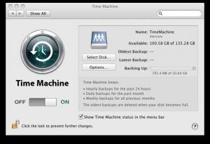 Time Machine Backup in Progress