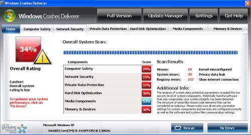 Windows Crashes Deliverer
