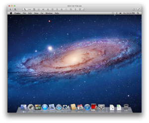 Default desktop on OS X Lion
