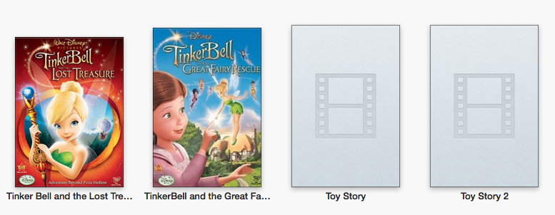 The lost movie art in iTunes 11.